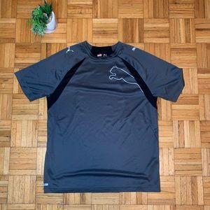 Puma Grey Black Moisture Wicking Gym Shirt